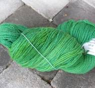 Hand dyed z-twined greenyellow