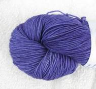 Hand dyed sock yarn purple