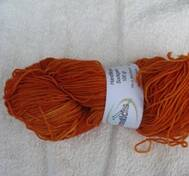 Hand dyed sock yarn orange