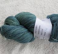 Hand dyed thin lace yarn of merinosilk blueyellow