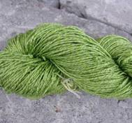 Hand dyed silk lime