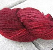 Hand dyed wool/cashmere red