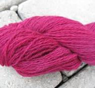 Hand dyed wool/cashmere redpink