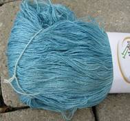 Hand dyed thin Silk bluegreen