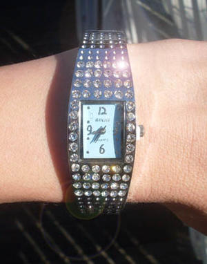 Bangle watch wityh bling bling.