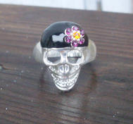 Skull ring.