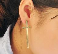 Cool cross earrings.