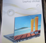 Laptop skin drink and beach