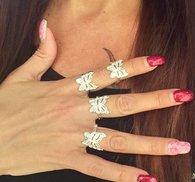 Vacker silver ring