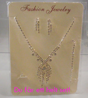 Rhinestone set Necklace,ring,braclet and earings.
