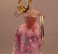 Jewelry holder dress.
