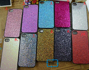 Glitter skal  Iphone 4G s Svart..
