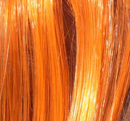 Hair extension orange.Clip on.