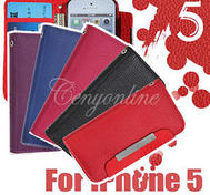 Red case Iphone 5 wallet.