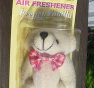 Air freshener bear to your car.