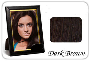 Hair extensions dark brown.Clip on.Long hair.