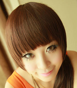 You want i fringe bangs?But dont want i haircut?Chesnut brown.
