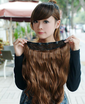 Hair extensions chocolate.Clip on.