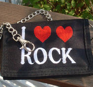 I love Rock wallet with chain.