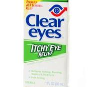 Clear Eyes Itchy Eye Relief Drops.