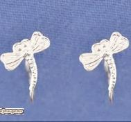"Fake silver nose piercing.""Dragonfly"""