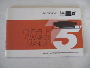 1975 Chevrolet Chevelle Owners Manual