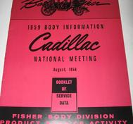 1959 Cadillac Body Information