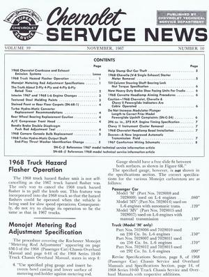 1967 - 1968 Chevrolet Service News November