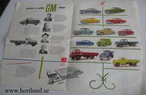 1954 GM svensk folder
