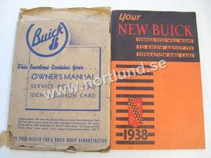 1938 Buick Owners Manual Incuding envelope