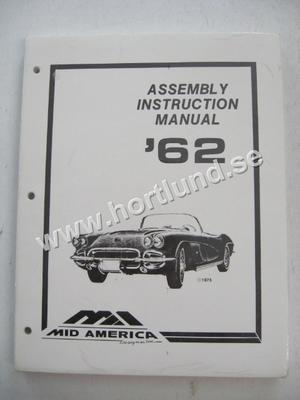 1962 Chevrolet Corvette Assembly Instruction Manual