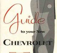1956 Chevrolet Car Owner's Manual