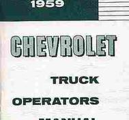 1959 Chevrolet Truck Owner's Manual