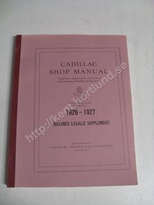 1926-27 Cadillac Series 314 Shop manual