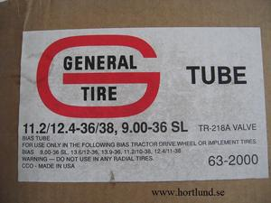 11.2/12.4-36/38, 9.00-36 SL General Tire Tube Slang