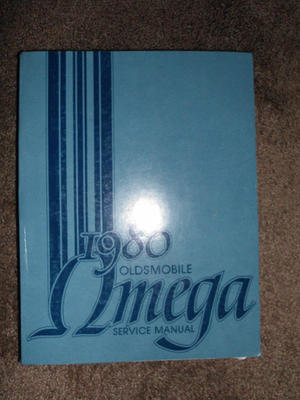 1980 Oldsmobile Omega Service Manual