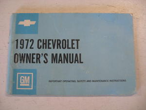 1972 Chevrolet Owners Manual