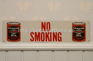 Harley Davidson Oil No Smoking Sign