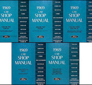 1969 Ford, Cougar, Fairlane, Falcon, Montego, Mustang, Thunderbird, Meteor, Mercury och Lincoln Continental Shop Manual