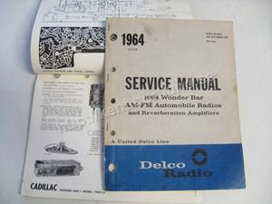 1964 Delco Radio Service manual 1964 Wonder bar