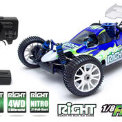 RIGHT 1/8 Fighter Buggy Nitro 4WD .21
