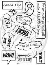 Speech bubbles ( Swedish)