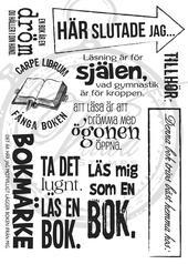 Texts about books ( Swedish)