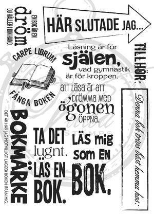 Texts about books ( Swedish)