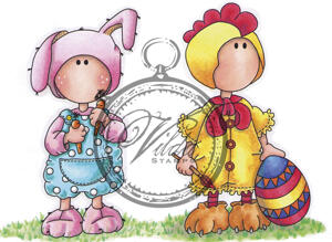 Easterbunny and rooster