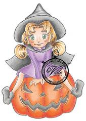 Witch on pumkin