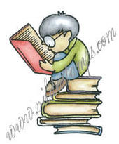Boy on books