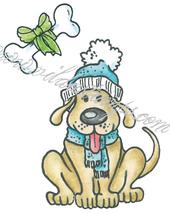 Winterdressed dog
