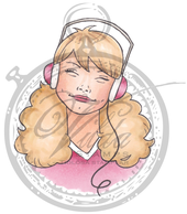 Betty with headphones