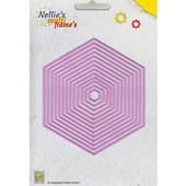 Nellies Multi Frame Die -Straight Hexagon